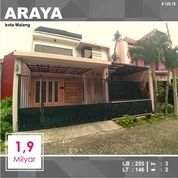 Rumah 2 Lantai Luas 155 Di PBI Araya Kota Malang _ 129.19