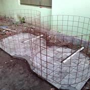 Besi Wiremesh Utk Rangka Kolam Diameter 2m