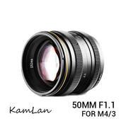 Lensa Kamlan 50mm F1.1 For Mirrorless Panasonic & Olympus Mount M 4/3