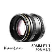 Lensa Kamlan 50mm F1.1 For Mirrorless Panasonic & Olympus Mount M 4/3 (19436571) di Kota Surabaya