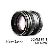 Lensa Kamlan 50mm F/1.1 For Mirrorless Sony E-Mount