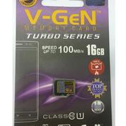 Memory Mmc Micro Sd Merk Vgen 16gb Class 10 Speed 100mb/S Turbo