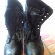 Sepatu Boots Dinas TNI AD Full Kulit Ori Black Tahun 2008 Size 43
