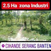 Tanah Cikande 2.5 Ha Zona Industri Cikande Kab Serang Banten (19801507) di Kab. Serang
