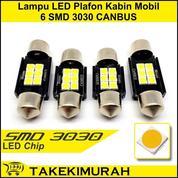 Lampu LED Plafon Kabin Interior Mobil Socket Festoon 6 SMD 3030 Canbus Free Error Super Bright