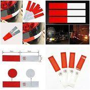 Stiker Reflektor Pemantul Cahaya Ukuran 30 X 4.5 Cm Sticker Reflector Mobil Car Light