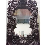 Cermin Bingkai Kayu Jati Ukiran BALI (19987103) di Kota Jakarta Utara