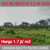 Kavling Industri Modern Cikande 4.6 Ha SHGB Kab Serang Banten (20032315) di Kab. Serang