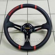 Stir Racing Import Momo Drifting Carbon Celong 14 Inchi Palang Hitam