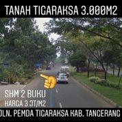 Tanah Tigaraksa 3.000m2 Nempel Jalan Utama Kab Tangerang (20086163) di Kab. Tangerang