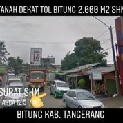 Tanah Bitung 2.000m2 Hanya 1 Km Ke Tol Bitung - Tangerang Banten (20097259) di Kab. Tangerang