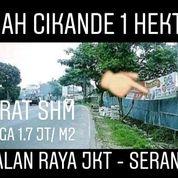 Tanah Cikande 11.850 M2 Nempel Jalan Raya Propinsi Kab Serang (20183779) di Kab. Serang