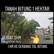 Tanah Bitung 1 Hektar Jalan Utama 1 Km Ke Gerbang Tol Kab Tangerang (20188903) di Kab. Tangerang
