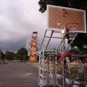 Ring Basket Dorong Dengan Papan Pantul Basket Akrilik Tebal 15 Mm