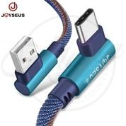 Joyseus Elbow Denim Gaming Data Kabel Charger Type C USB Cable 1m