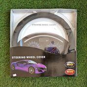 Cover Steer Mobil Mbtech Hitam Corak Kotak Ungu (20323231) di Kota Semarang