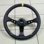 Stir Racing Leather Import OMP Celong 14 Inchi Palang Hitam List Kuning (20345155) di Kota Jakarta Pusat