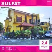 Rumah Hook 2 Lantai Luas 179 Daerah Sulfat Kota Malang _ 329.19