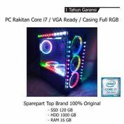 PC Rakitan Core I7 VGA Ready Casing Full RGB