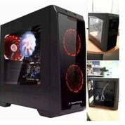 Casing Pc Baru Power Up Raptor 1801 Transparan+ 3bh Fan 12cm Lampu (20580179) di Kota Surabaya