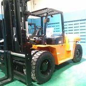 Forklift 10 Ton Mesin ISUZU Jepang Bukan TCM, Komatsu