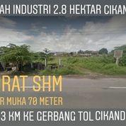 Tanah Darat 2.8 Ha Nempel Jalan Tingkat Propinsi Kec Cikande Kab Serang (20620167) di Kab. Serang