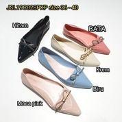 Sepatu Flat Shoes Cewe Wanita Karet Barabara Slipon Glossy Pita (20628663) di Kota Sukabumi