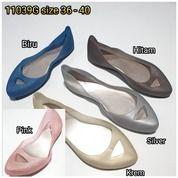 Sepatu Teplek Flat Shoes Karet Glitter Lancip Slipon (20650627) di Kota Sukabumi