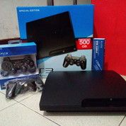 PS3 Slim CFW Hardisk 500GB Full 100 Game Free 2 Stik SONY Wairless Bisa COD An