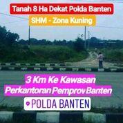 Tanah Kota Serang 8 Hektar Dekat Polda Banten (20700655) di Kota Serang