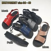 Sandal Sendal Sepatu Cewe Wanita Karet Barabara Loafers Tali Belakang (20712091) di Kota Sukabumi