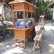 Gerobak Angkringan Paket Komplit Jati Gerobak Sudah Plitur (20719739) di Wedi
