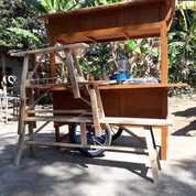 Gerobak Angkringan Gerobak Paket Komplit Gerobak Dorong Gerobak Kuat Gerobak Kayu (20749331) di Wedi