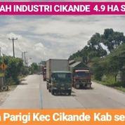 Tanah Industri Cikande 4.9 Ha Kab Serang Banten (20765903) di Kab. Serang