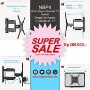 Bracket TV Swivel Tengok Kiri Kanan NBP4 North Bayou (20770491) di Kota Tangerang Selatan