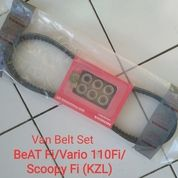 Van Belt Vbelt Set KZL Beat Fi Vario 110Fi Scoopy Fi Spacy Fi Original Honda