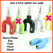 Audio Splitter Jack 3.5mm To Dual Female U 2in1 (Mic & Audio)