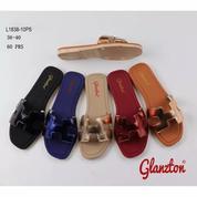 Sandal Sendal Cewe Wanita Karet Glanzton H L1838-10sp Teplek Flat Selop (20883983) di Kota Sukabumi