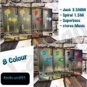 Grosir Termurah Hansfree Aimile AM-001 Suara Power Full Bass 8 Waran Kabel Spiral