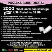 Paket Pustaka 2000 Buku Digital USB Flash Drive 32 GB