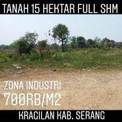 Tanah Zona Industri 15 Ha 2 Km Ke Gerbang Tol Ciujung Kab Serang (20983567) di Kab. Serang
