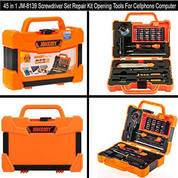Obeng Fullset Jakemy 47 In 1 For Smartphone, Laptop, Kamera, Pc, Printer, Led, Cctv Dll