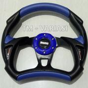 Stir Racing Momo Alien 13 Inchi Hitam Kombinasi Biru Universal