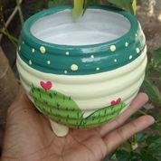 Pot Kaktus Gerabah Lukis Cantik Dan Unik