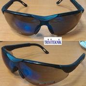 safety glass Blue mirror impact resistant,kacamata