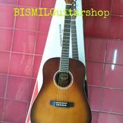 Gitar Taylor Akustik Jumbo Sunburst Dark Doff Kwalitas Export Not Gibson Ibanez Jackson (21217695) di Kota Bogor