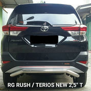"Bemper Belakang Stainless T. Rush - D. Terios 2,5"" T (21238915) di Kota Surabaya"