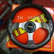 Stir Racing Momo 13 Inchi Import Carbon Motif Rendah Baut Palang Silver Universal (21249963) di Kota Jakarta Pusat