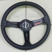 Stir Racing 13 Setengah Inchi Tengah Motif Carbon 3 Palang Datar Hitam Universal (21325591) di Kota Jakarta Pusat