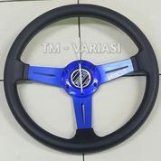 Stir Racing 13 Setengah Inchi Tengah Motif Carbon 3 Palang Datar Biru Universal (21325659) di Kota Jakarta Pusat